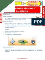 Fenómenos Físicos y Químicos - Grado 6