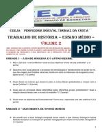 2- Ensino Remoto - Trabalho de História - Volume 2