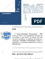 CORPORAÇÕES E ORGANISMOS INTERNACIONAIS E DO BRASIL NA ORDEM ECONÔMICA