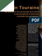 entrevista alain touraine