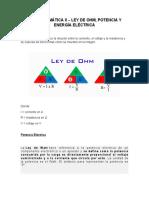 UNIDAD TEMÁTICA II -LEY DE OHM,POTENCIA Y ENERGIA ELÉCTRICA