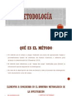 REDACCIÓN DE METODOLOGÍA