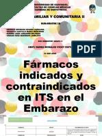 Fármacos Indicados y Contraindicados en El Embarazo