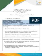 Guía de actividades y rúbrica de evaluación - Unidad 3 - Fase 3 - El Desarrollo adultez y vejez