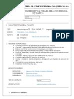 Anexo N°4 Ficha de Afiliación de Personal Contratista - INGENIERO RESIDENTE