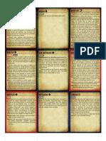 Pathfinder 2e - Cartas de Ações Básicas e Perícias (Color)