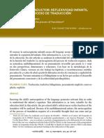 Signoret Dorcasberro, Alina, El niño y el traductor Reflexividad infantil