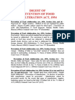 PREVENTION OF FOOD ADULTERATION ACT, 1954