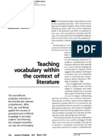 Teaching Vocabulary within the Context of Literature
