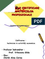 PROIECT DE CERTIFICARE A COMPETENŢELOR   PROFESIONALE