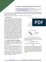 Conversion énergie cinétique