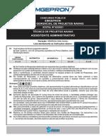 Selecon 2021 Emgepron Assistente Administrativo Prova
