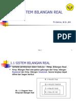 bab1. Sistem Bilangan Real