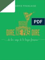 Dire, ne pas dire  du bon usage de la langue française by Académie Française [Française, Académie] (z-lib.org)