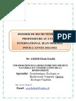 Dossier Candidature Asseh Ebah Estelle