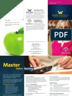 Wilkes_Online_Teaching_Masters_Brochure