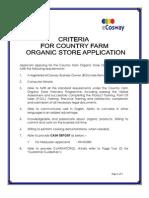 Criteria Cover Page