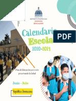 Calendario Escolar Junio Julio 2021