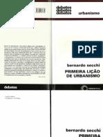 SECCHI, Bernardo - Primeira Lição de Urbanismo