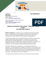 Twestival Manila 2011 Press Release