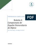 Boletín 0 CEU Hípica