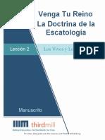 VengaTuReinoLaDoctrinaDeLaEscatologia.Leccion2.Manuscrito.Espanol