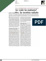 Quanto vale la natura? Di certo la nostra salute - Il Biellese del 6 luglio 2021