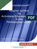 REGIME JURÍDICO DA ATIVIDADE EMPRESARIAL LOCAL E DAS PARTICIPAÇÕES LOCAIS