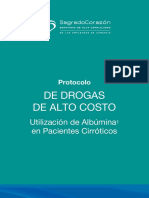 Protocolo de uso de albúmina en pacientes cirróticos