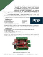 Manual Datasheet Interface Placa Controladora CNC via porta USB NVUM-SK - 4 Eixos para Mach3