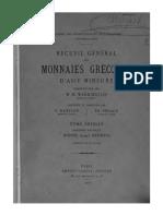 Recueil général des monnaies grecques d'Asie mineure. T. I. Fasc. 2