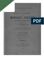 Recueil général des monnaies grecques d'Asie mineure. T. I. Fasc. 4