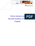 Ziitrics Solutions Microsoft Dynamics AX proposal