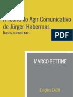 A Teoria Do Agir Comunicativo de Jürgen Habermas - Bases Conceituais