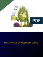 HISTORIA UNIVERSAL PARA LA MEDICINA LEGAL Y FORENSE