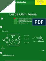 2 - Teoria da Lei de Ohm
