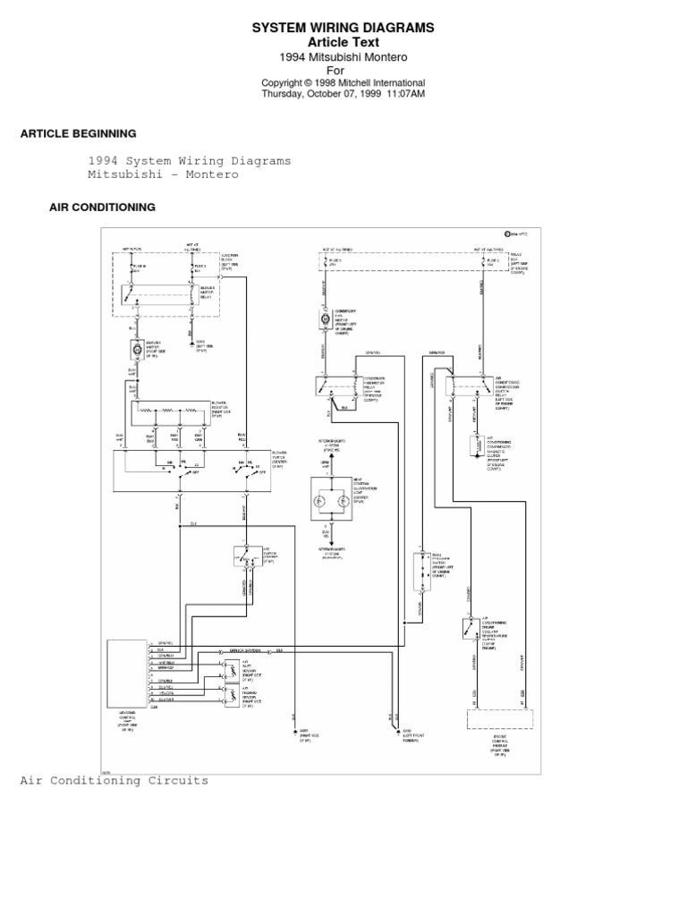 Stunning Mitsubishi Montero Wiring Diagram Photos - Electrical ...