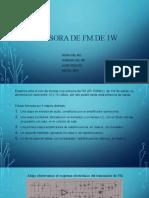 EMISORA DE FM DE 1W