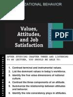 Attitudes,Value & Job Satisfaction-Prince Dudhatra-9724949948