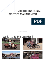 Concepts in International Logistics Management-prince Dudhatra-9724949948