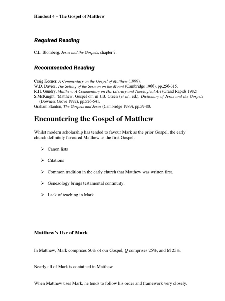 The Gospel of Matthew, John the elder and the Papias tradition : a response to R H Gundry