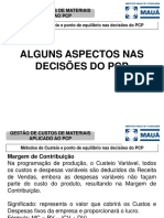 PCP 2 Pto de Equilíbrio e decisões do PCP