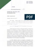Decreto da Fiscalia de Ourense sobre a Deputación de Ourense