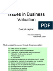 Issues in Business Valuation