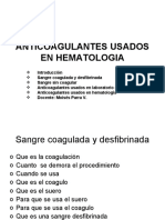 ANTICOAGULANTES USADOS EN HEMATOLOGIA