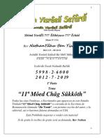 Tema@ 11ª Môed Châg Sûkkôth 1ª Parte PDF 2018