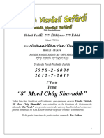 Tema@ 8ª Môed Châg Shavuôth 1ª Parte