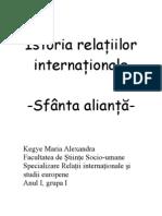 istoria relatiilor internationale - sfanta alinata