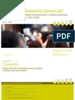 Aplicabilidad de estándares internacionales y mejores prácticas