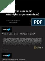 Escreva+ Enem_ O que usar como  estratégias argumentativas_
